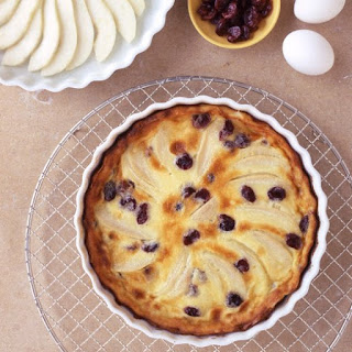 Pear and Dried Cherry Clafouti.