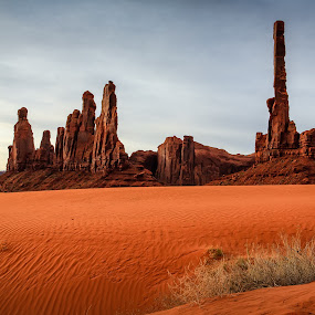 Totem Pole by Tim Monk - Landscapes Deserts