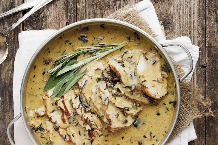 Pork Loin with Wine and Herb Gravy Recipe