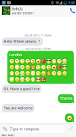 Screenshot of Easy SMS - Emoji Message