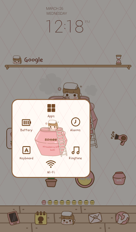 Strawberry Bath Dodol Theme Android Apps On Google Play