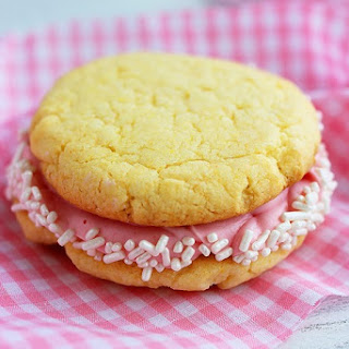 Cake Mix Cookie Sandwiches.