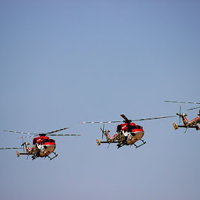 Sarang helicopter - Indian Air show by Guru Prasad - Transportation Helicopters ( aeroindia, air force, airplane, aircraft, air show )