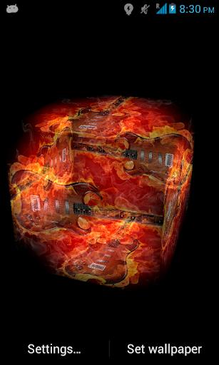 Flame Guitar 3D Live Wallpaper