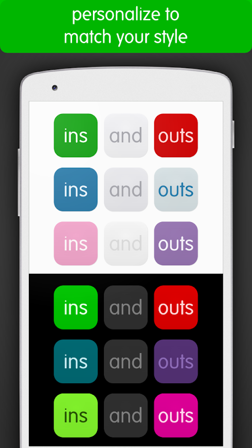 ins and outs- screenshot