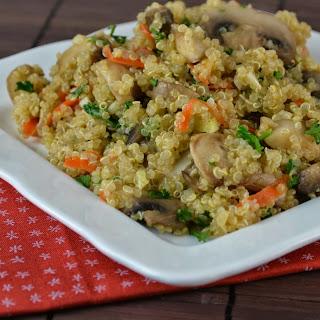 Mushroom Garlic Quinoa.