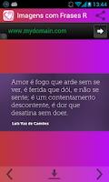 Screenshot of Imagens com Frases Românticas