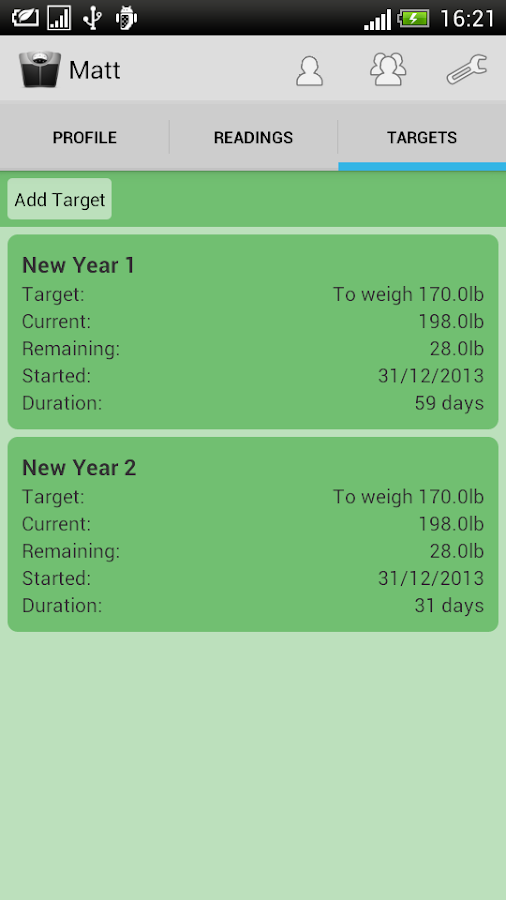 Weight Loss Tracker- screenshot