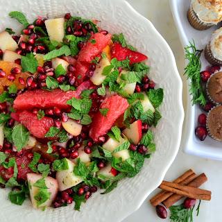 Cardamom Citrus Fruit Salad with Pomegranate.