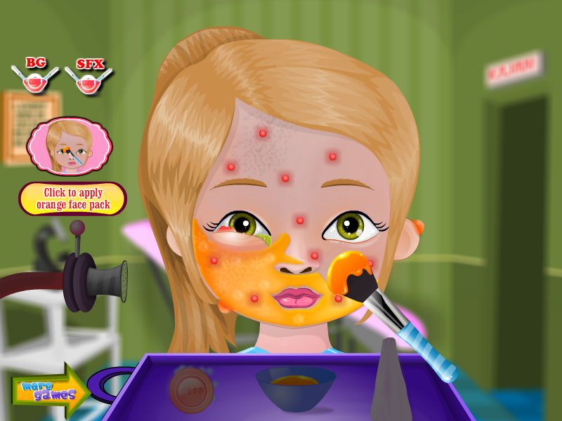 Pimple Trouble Girls Games - screenshot