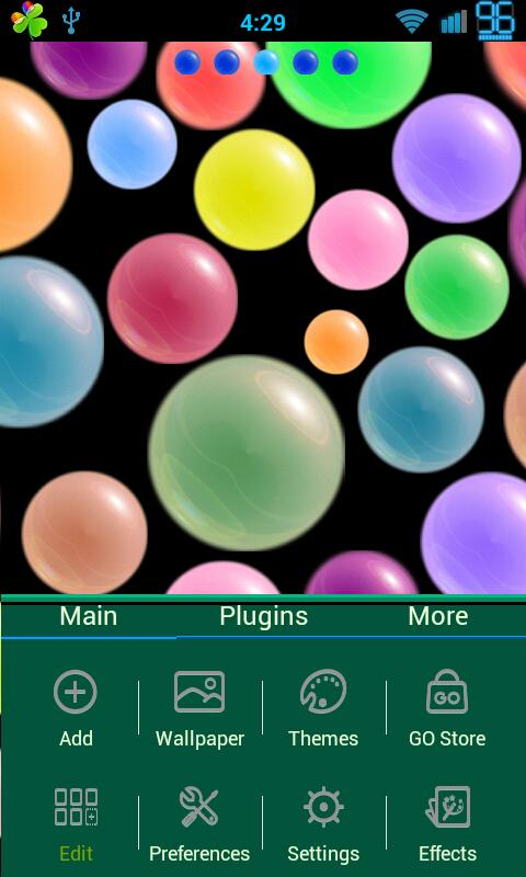 Polka Spheres GoLauncher Theme - screenshot