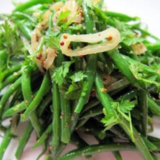 Warm Green Bean Salad with Shallots and Mustard
