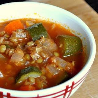 Provencal Lentil Zucchini Soup.