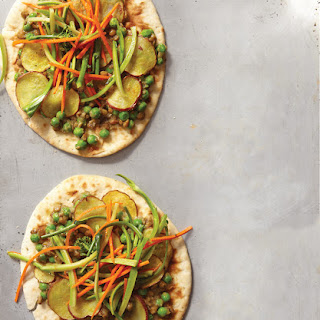 Lentil-Potato Piz'aans with Broccoli Slaw.