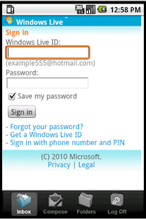 Easy Email for hotmail live