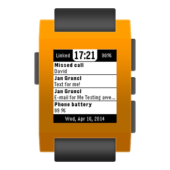 Notiwatch for Pebble - screenshot