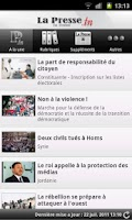 Screenshot of La Presse de Tunisie