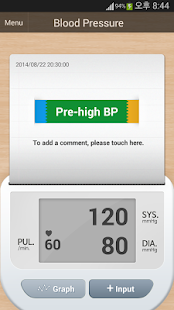 BP(Blood Pressure) Diary screenshot for Android