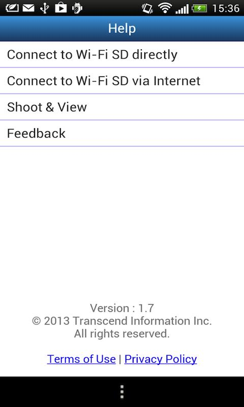Wi-Fi SD - screenshot