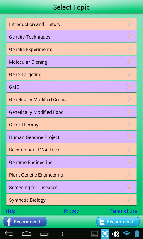 Genetic Engineering Learn Test- screenshot