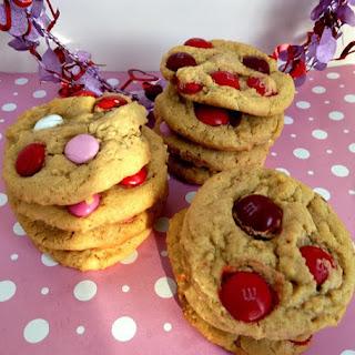 Peanut Butter Cherry MM Cookies