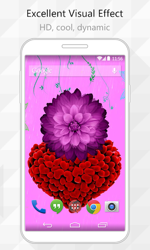 Rotate Flower Live Wallpaper