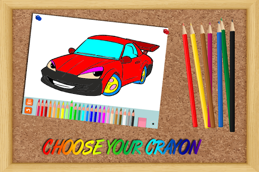 Coloring Book for Kids - Cars