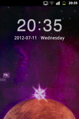 GO Locker Theme Galaxy Star - screenshot
