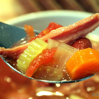 Ham Bone Vegetable Soup – Crock Pot Edition