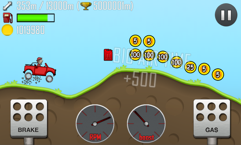 Hill Climb Racing Hack Apk Mod v.1.24.0 (Unlimited Coins) - screenshot