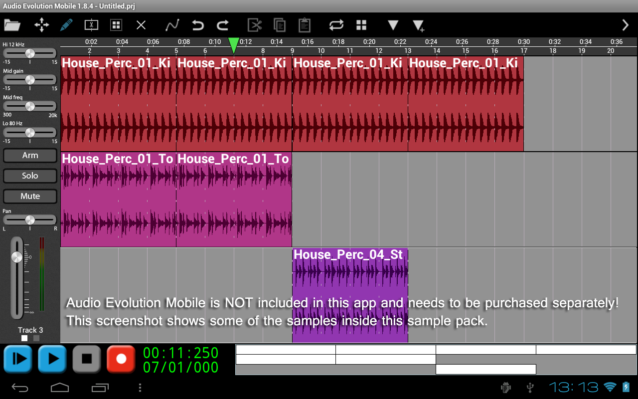 House Percussion for AEMobile- screenshot