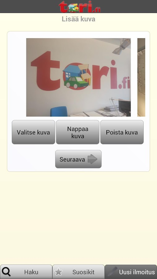 Tori.fi - screenshot