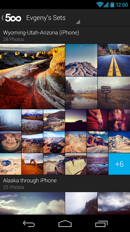 500px – Discover great photos - screenshot
