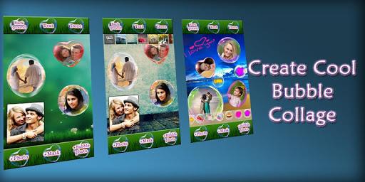 Photo Bubble Sticker Collage