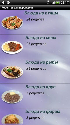 Рецепты для пароварки