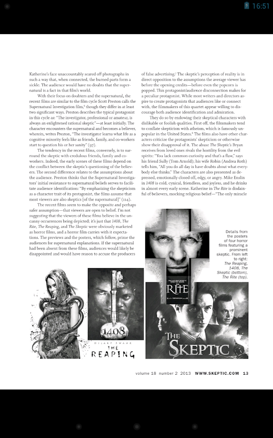 Skeptic Magazine- screenshot