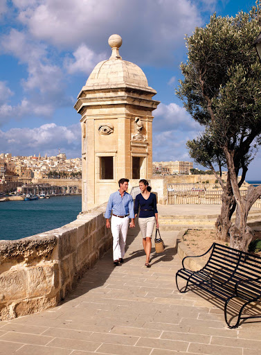 Take a sightseeing tour of Malta or go off on a romantic walk during your Seabourn shore excursion.