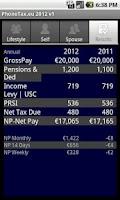 Screenshot of PhoneTax.eu Eire TaxCalc 2016