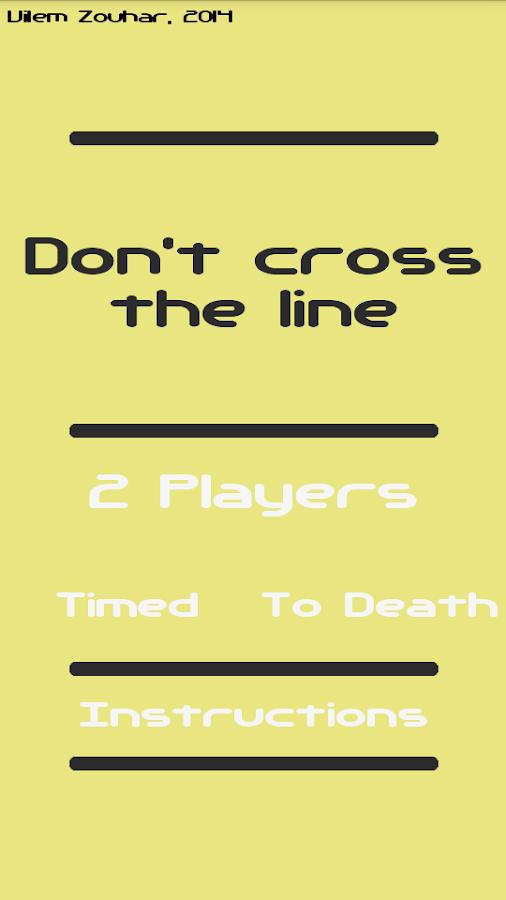 Don't cross the line- screenshot