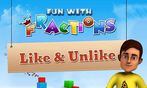 Math Fun Fractions:Like Unlike
