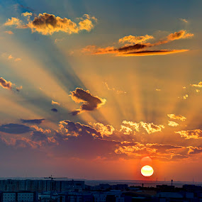 SKY Light @ Dusk by Yasser Abusen - Landscapes Sunsets & Sunrises (  )