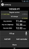 Screenshot of motoLog - Car Management