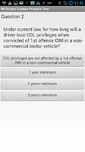 WI DMV CDL Practice Test- screenshot thumbnail