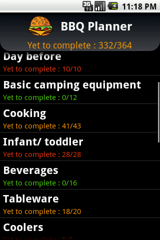 BBQ Planner - screenshot