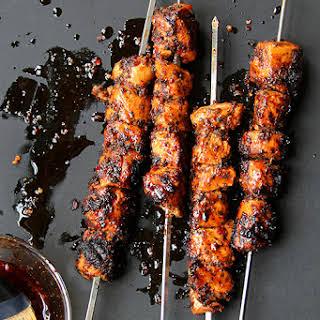 Tavuk Kebabi (Mint & Aleppo Pepper Marinated Chicken Kebabs).
