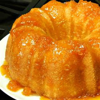 Apricot Brandy and Peach Schnapps Pound Cake.