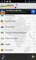 Screenshot of Africa Radio Internet Radio