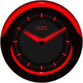 Laser Clock Widget A-RED