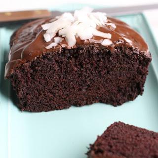 Vegan Chocolate Coconut Cake with Rich Chocolate Glaze.