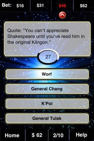 Trekkie FunBlast Trivia Quiz - screenshot
